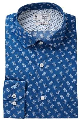 Original Penguin Palm Tree Print Slim Fit Shirt