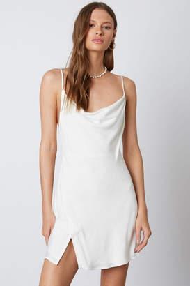 Cotton Candy Cowl Slip Dress