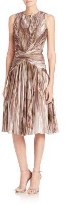 Ralph Lauren Collection Larisa Printed Silk Dress $4,490 thestylecure.com