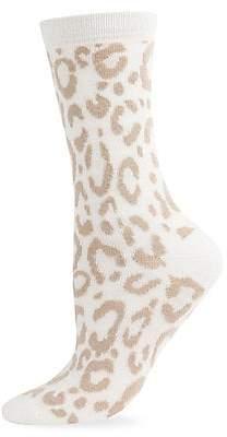 Natori Women's Animal Printed Cashmere-Blend Crew Socks