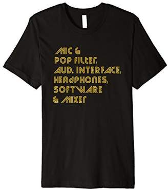 Equipment Podcast / Audio List T-shirt (Men & Women's)