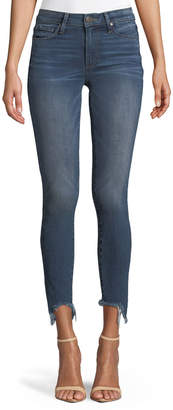 Paige Verdugo Skinny Ankle Jeans with Torn Fray Hem