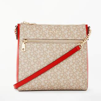 DKNY Bryant Logo Top Zip Cross Body Bag