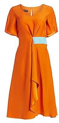 Emporio Armani Women's Short Sleeve Silk Satin Dress