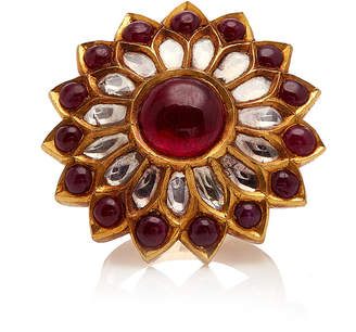 Amrapali 22K Gold Silver Ruby And Diamond Ring