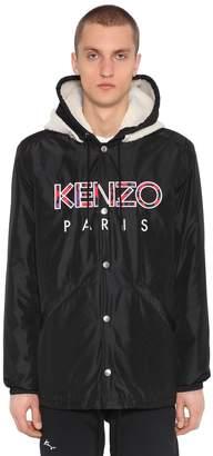 Kenzo Hooded Camo Logo Patches Nylon Jacket