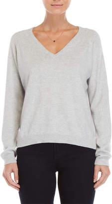 Brodie Grey V-Neck Cashmere Sweater