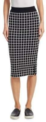 Akris Punto Grid Pattern Midi Pencil Skirt