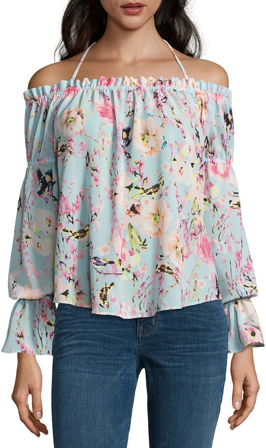 BUFFALO JEANS Buffalo Jeans Tie Front Off The Shoulder Top