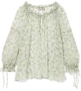 Paul & Joe Varennes Floral-print Silk-chiffon Blouse