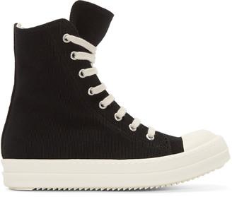 Rick Owens Drkshdw Black High-Top Sneakers $720 thestylecure.com