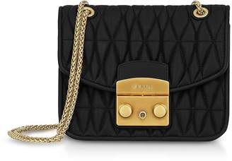 Furla Quilted Nappa Metropolis Cometa Mini Crossbody Bag w/Chain Strap
