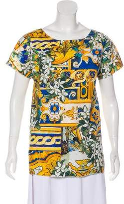 Dolce & Gabbana Printed Short Sleeve Top