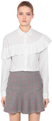 RED Valentino Ruffled Cotton Poplin Shirt