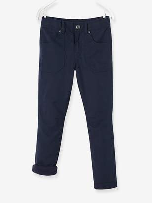 Vertbaudet Indestructible Straight Leg Trousers with Lining for Boys