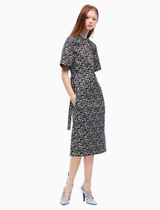 Calvin Klein floral short sleeve t-shirt dress