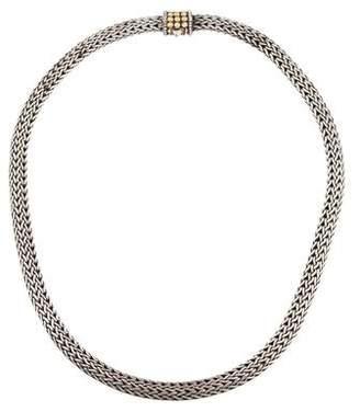 John Hardy Two-Tone Wheat Chain Dot Necklace