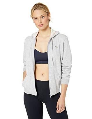 Lacoste Women's Long Sleeve Hooded Fleece Pocket Sweatshirt