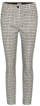 Miu Miu Plaid corduroy trousers