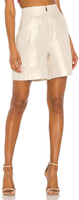 NONchalant Linen Front Zipper Short