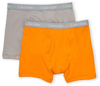 Calvin Klein Boys 4-7) Two-Pack Solid Boxer Briefs