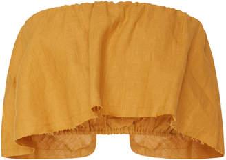 Faithfull Marigold Mala Strapless Cropped Top