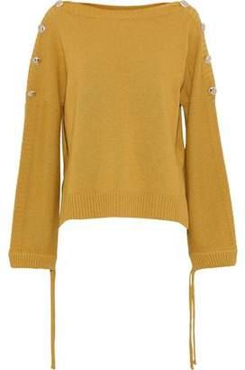 Baum und Pferdgarten Carajean Button-Embellished Knitted Sweater