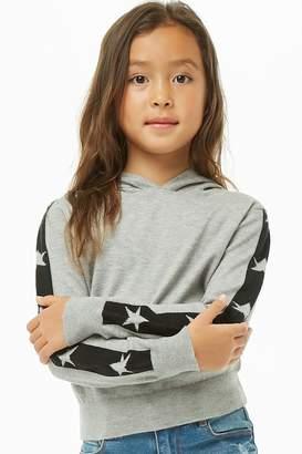 Forever 21 Girls Star Print Hoodie (Kids)