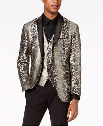 INC International Concepts I.n.c. Men's Slim-Fit Metallic Jacquard Suit Jacket