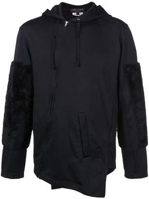 Comme des Garcons asymmetric zip front hoodie