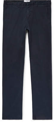 Ami Slim-Fit Stretch Cotton-Twill Chinos - Navy