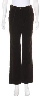 Celine Corduroy Straight-Leg Pants