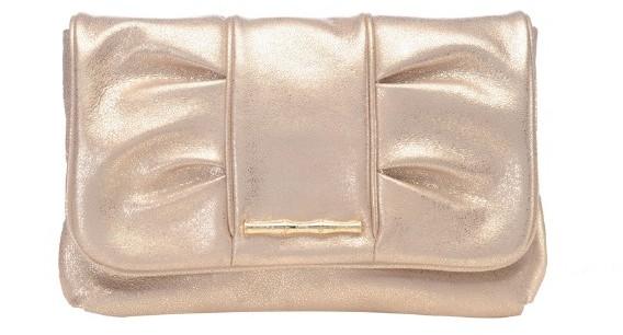 Elaine Turner Ava Metallic Leather Clutch