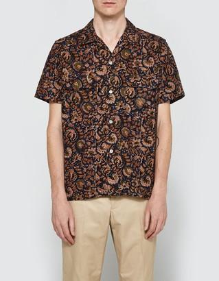 Batik Open Short Sleeve Shirt $143 thestylecure.com