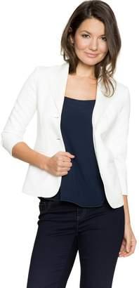Le Château Women's Chic Ponte Notch Collar Blazer,XXL