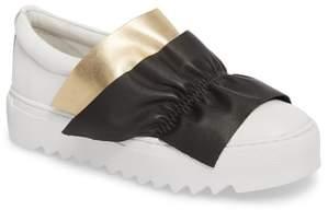 J/Slides Sadie Ruffle Platform Sneaker