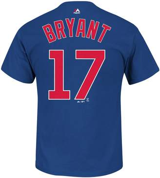 Majestic Men's Chicago Cubs Kris Bryant Player Name and Number Tee