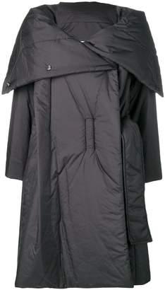 Issey Miyake foldover padded coat