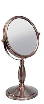 Harry D. Koenig Vanity Mirror Round Double Sided 6.75-Inch 5x Mag Bronze, 1-Count