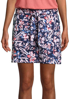 ST. JOHN'S BAY SJB ACTIVE Active Woven Belted Skort - Tall