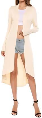 Meaneor Women's Long Sleeve Open Front Drape Lightweight Duster Cardigan XXXL