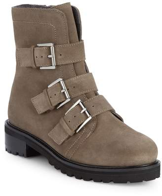 Seychelles Obedience Leather Buckle Combat Boots
