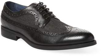 Rush by Gordon Rush Men's Wingtip Leather Derby Shoe
