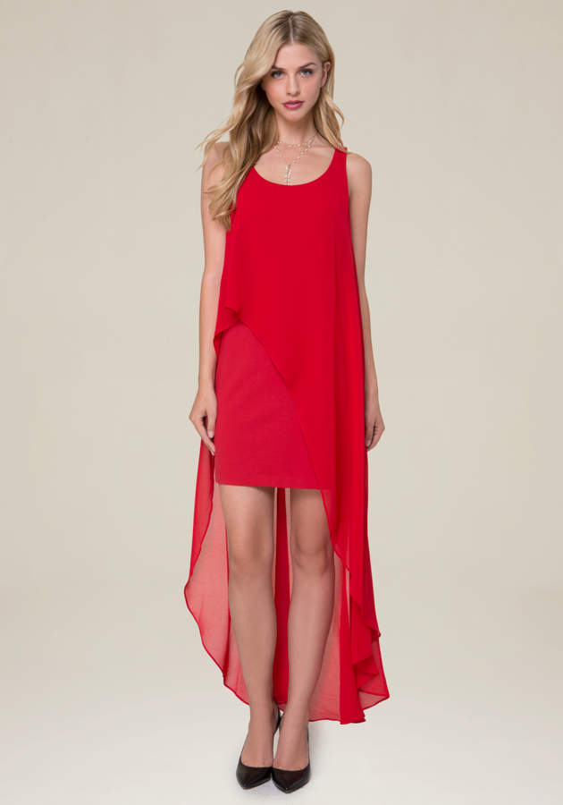 Hi-Lo Overlay Dress