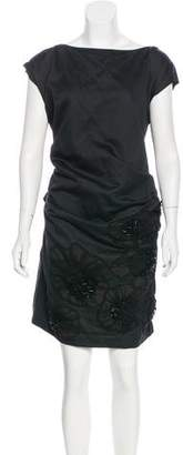 Lanvin Bow-Accented Embellished Dress