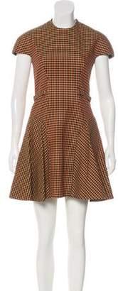 DELPOZO Virgin Wool Patterned Dress w/ Tags