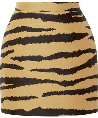Proenza Schouler Tiger-print Wool And Silk-blend Jacquard Mini Skirt - Zebra print