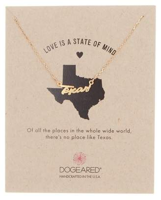Dogeared 14K Gold Vermeil Love is a State of Mind Texas Necklace