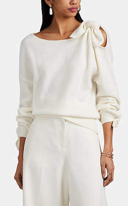 Derek Lam 10 Crosby Women's Tie-Detailed Wool-Cashmere Sweater - White
