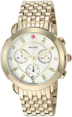 Michele Women's Swiss Quartz Stainless Steel Casual Watch, Color:-Toned (Model: MWW30A000019)